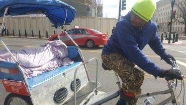 Pedicab driver Shamir